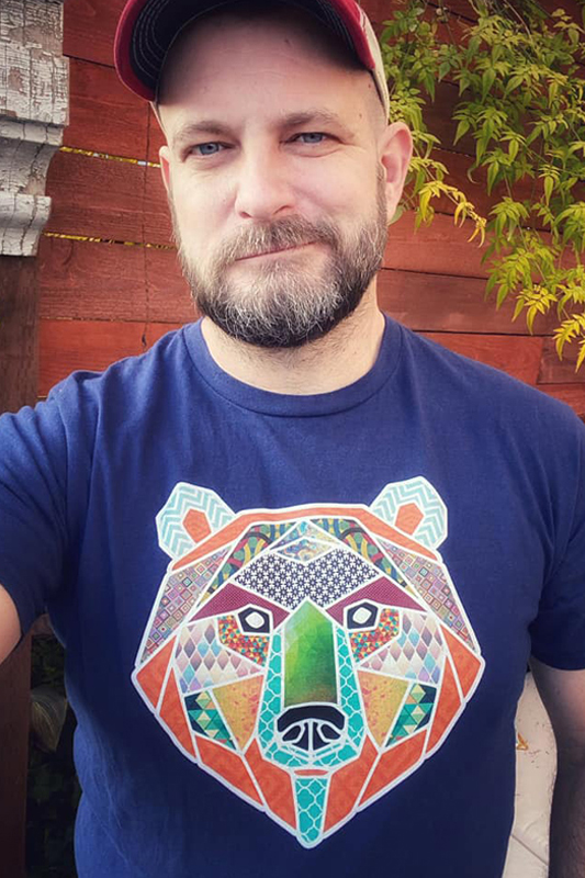 Colorful Patchwork Bear Gay Bear T-Shirt